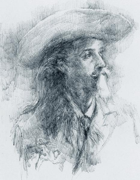 Buffalo Bill, history drawing