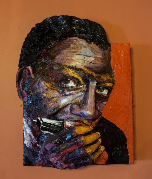 Built-Out Portrait of Little Walter Jacobs by Artist Brett Stuart Wilson