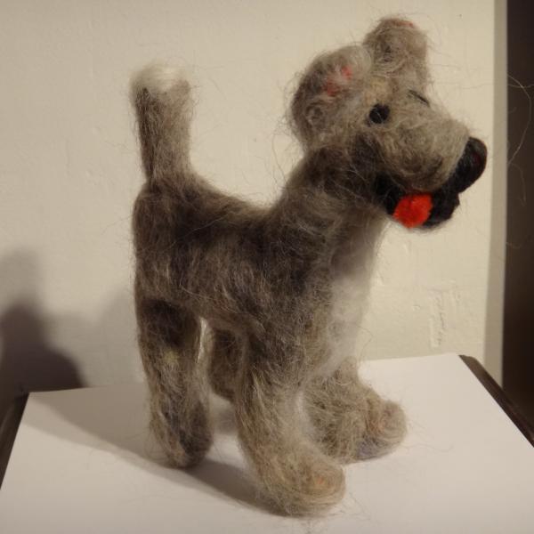 felt, sculpture, dog