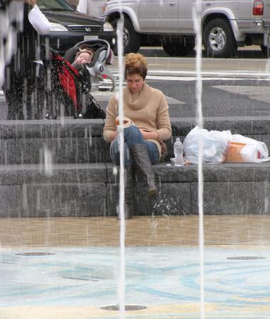 bench, public places
