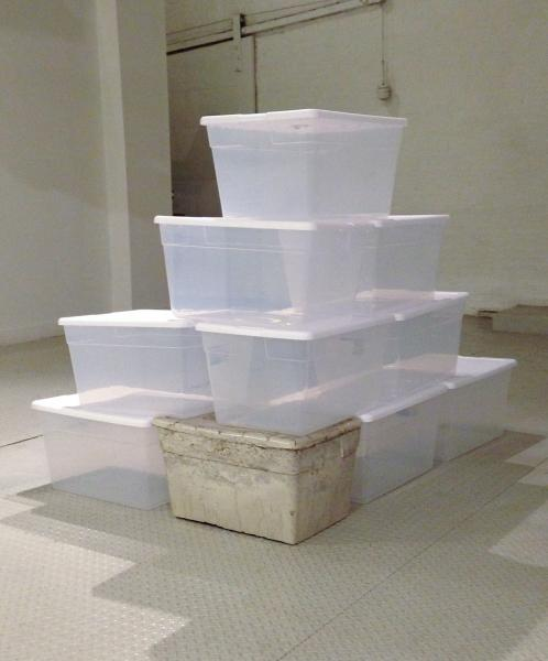 Cornerstone | Concrete and Plastic Storage Bins | Dimensions Variable | 2015