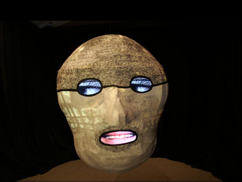 wood, paper, fabric, new media, video
