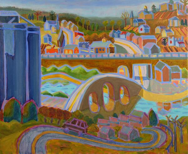"""Ellicott City From Westchester Avenue, oil, 30""""x36"""", 2012"""