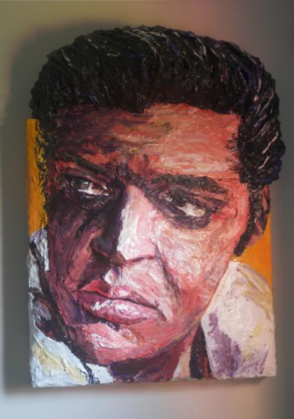 Built-Out Portrait of Elvis Presley by Artist Brett Stuart Wilson