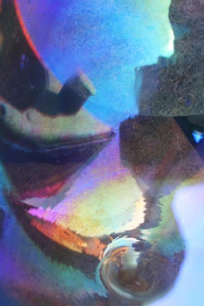 Distorted image of ship wreck