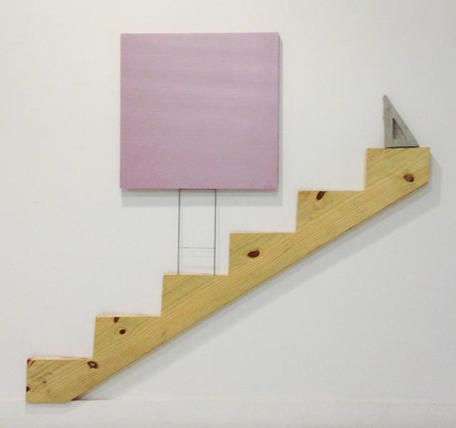"Stair Stringer, Concrete, Sign Stand, and Rigid Foam | 60"" x 61"" 