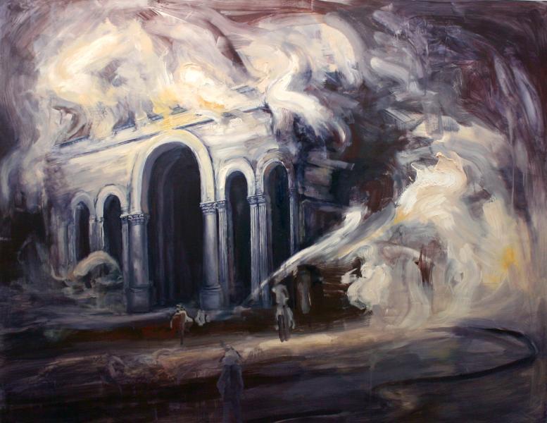 white city, painting