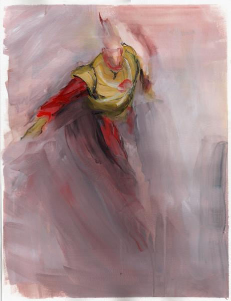 firestorm, DC, superhero painting