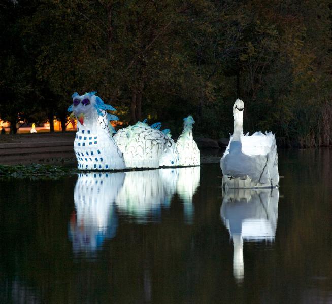 parade, sustainability, lantern workshops, performing objects