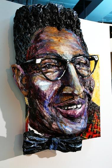 Built-Out Portrait of Bo Diddley by Artist Brett Stuart Wilson