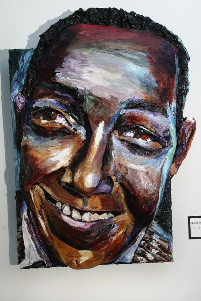 Built-Out Portrait of Charlie Parker (The Bird) by Artist Brett Stuart Wilson