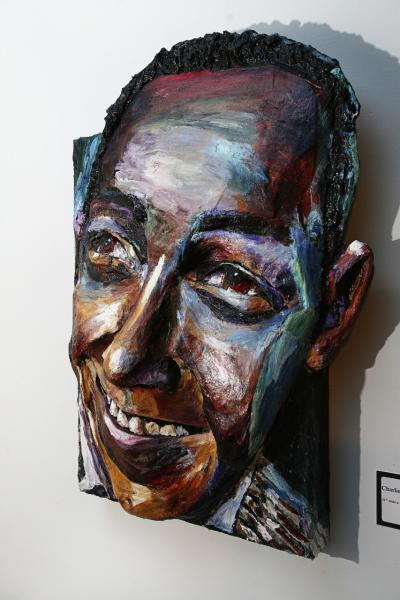 Built-Out Portrait of Charlie Parker by Artist Brett Stuart Wilson