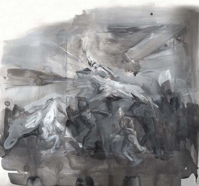 history painting, abstract