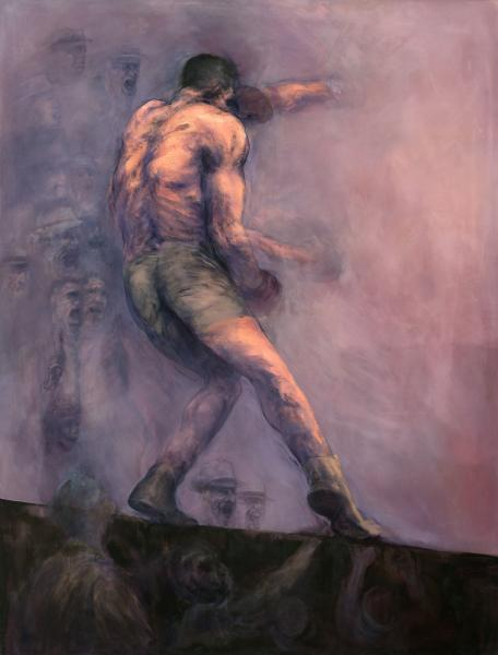 jack johnson boxer, boxing, painting, jim jefferies