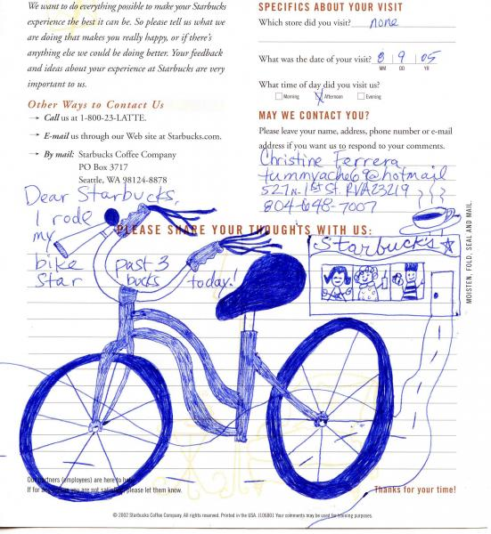 Bike Drawing for Starbucks