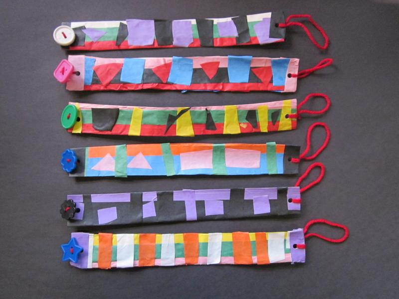 Paper necklaces inspired by Ndebele jewelry