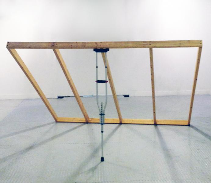 Infrastructure | Pine Studs and Crutch | 6'x8'x5' | 2013-2015