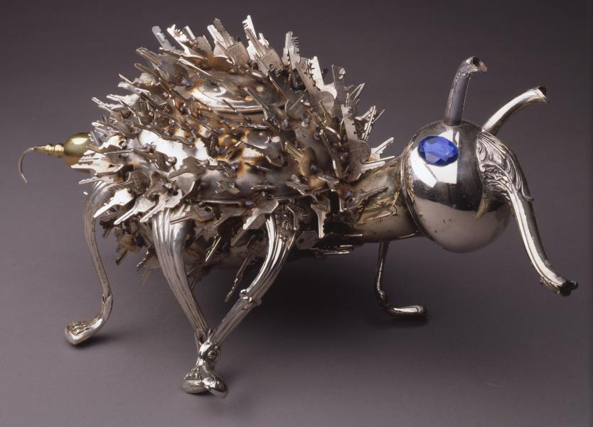 metal, found objects, mixed media, weldimg, repurposed, kitchenn
