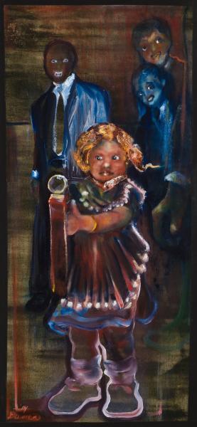 childhood trauma, guns, foreboding, frigthening creatures, bad education