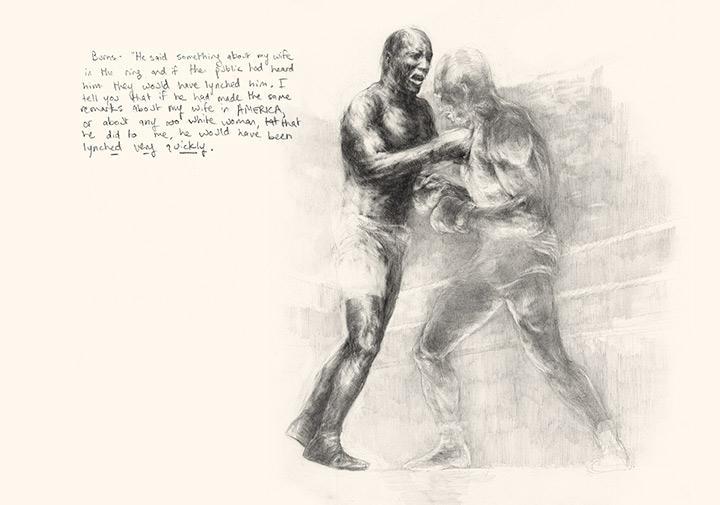 Jack Johnson, art, boxing, painting, racism, history