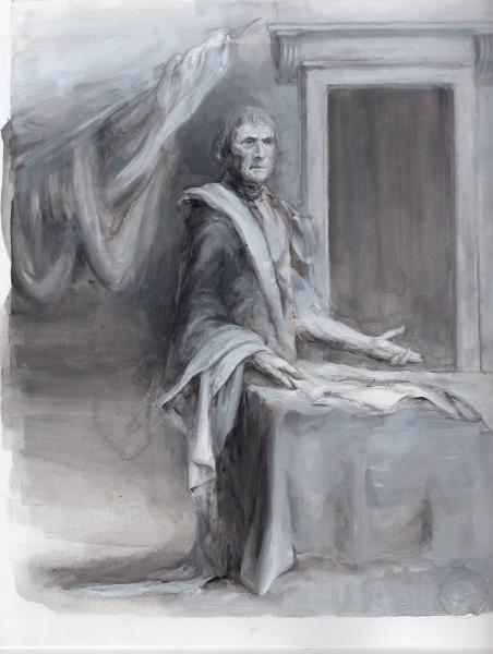 Thomas Jefferson, Cicero, constitution, history painting