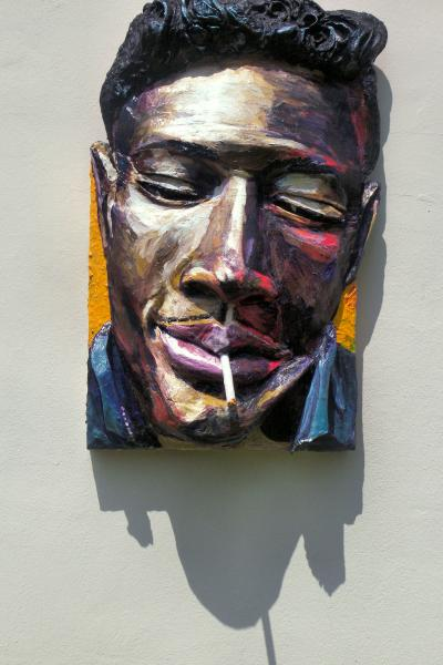 Built-Out Portrait of Junior Wells by Artist Brett Stuart Wilson