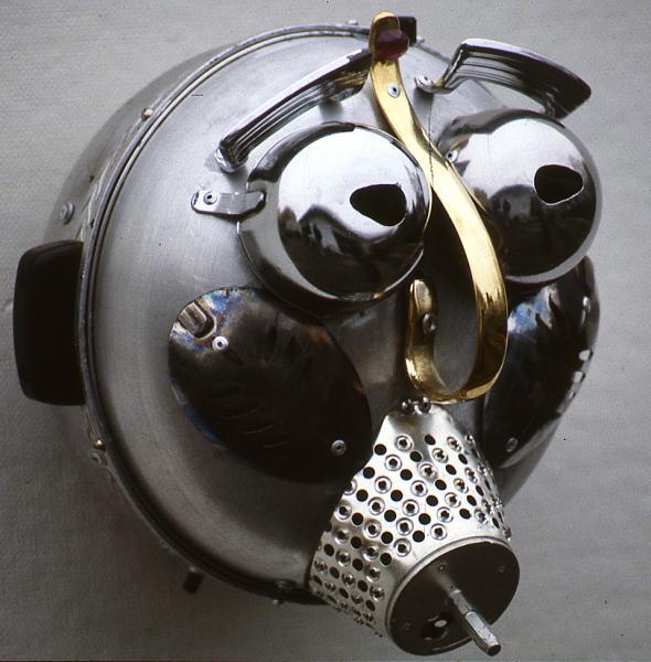 repurposed, kitchen utensils, found objects, metal, mixed mediarposed