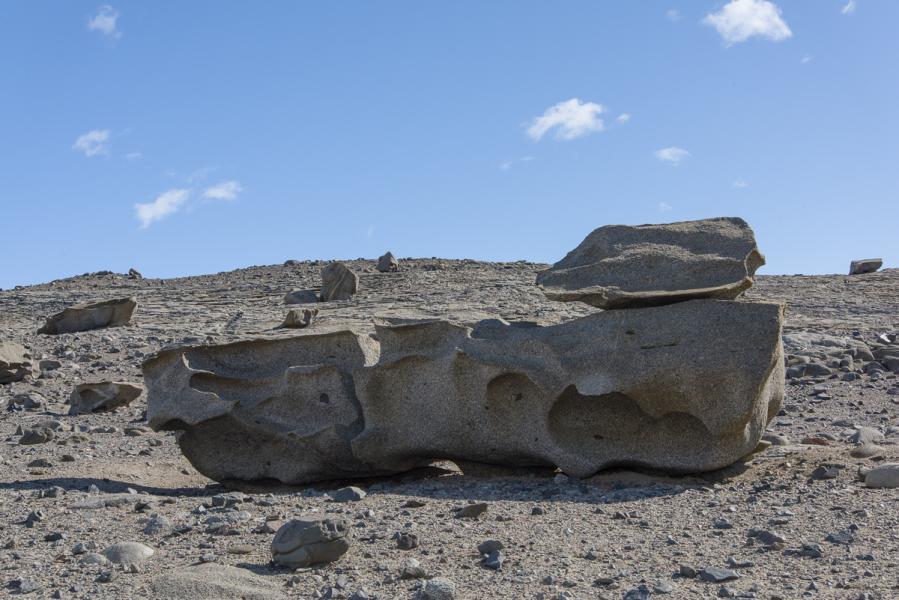 """Tanguy"" Ventifact, Dry Valleys, Antarctica"