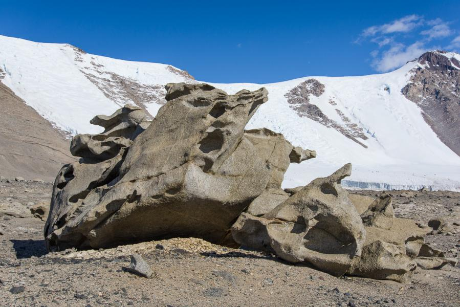 """Seated Figure"" Ventifact, Dry Valleys, Antarctica"