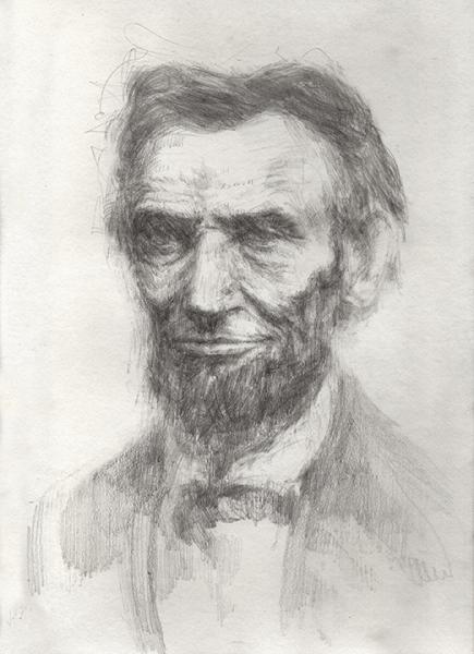 Abraham Lincoln, history drawing