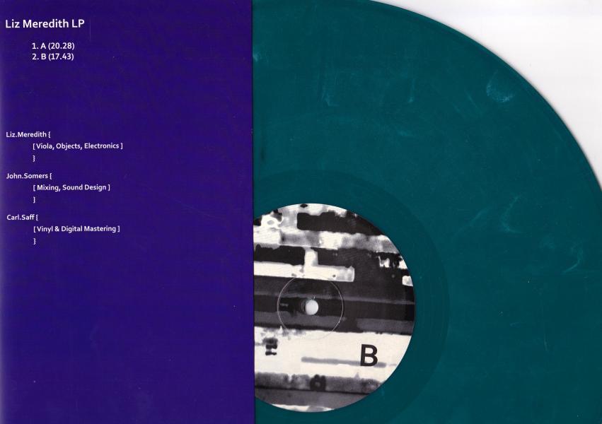 LP record artwork (back).  Album artwork: Liz Meredith.