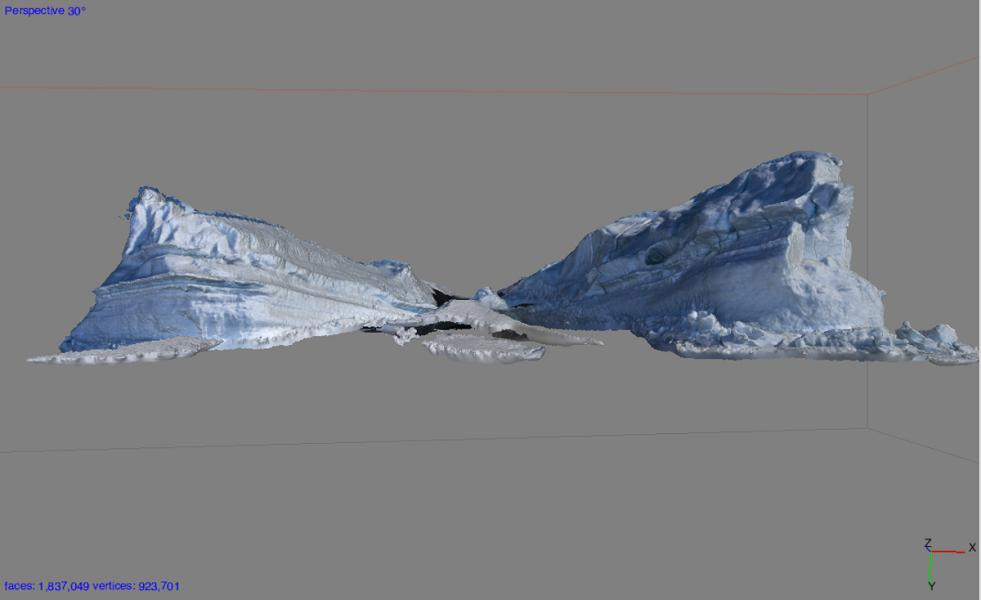 Iceberg Stuck in Sea Ice Near Dellbridge Islands, Antarctica
