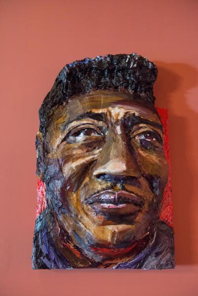 Built-Out Portrait of Muddy Waters by Artist Brett Stuart Wilson