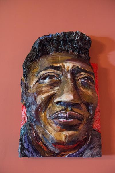 Built-Out Portrait of Muddy Waters by Artist Brett Stuart Wilson
