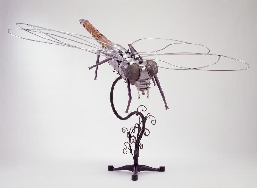 repurposed, kitchen utensils, found objects, metal, weld, mixed media
