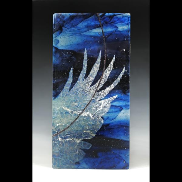 on the wing, kilnformed glass artwork by Ursula Marcum