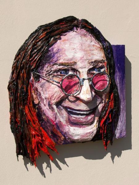 Built-Out Portrait of Ozzy Osborne by Artist Brett Stuart Wilson