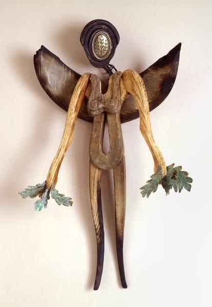 found objects, assemblage, repurposed, mixed media, figurative