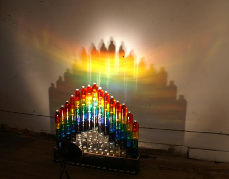sculpture, water, light, sustainalbility, Baltimore rainbow