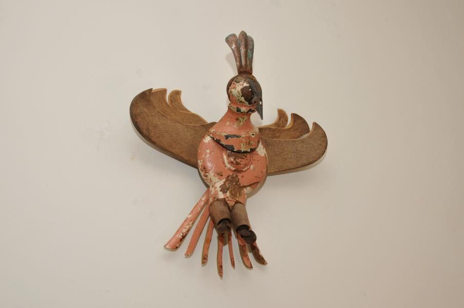 found objects, wall assemblage, bird, avian, mixed media, repurposed