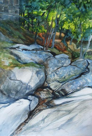 "watercolor 30"" x 22"" was painted en plein air in Ellicott City , MD in 2014"