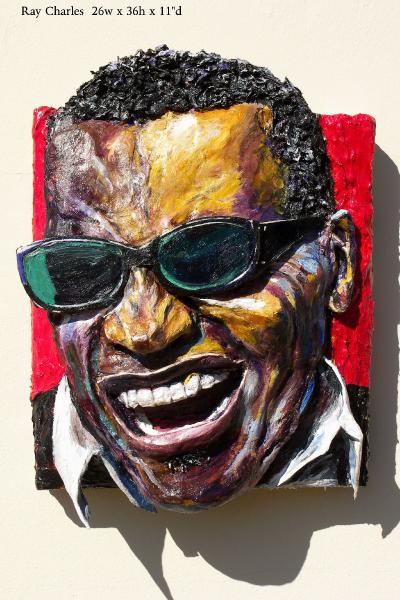 Built-Out Portrait of Ray Charles by Artist Brett Stuart Wilson