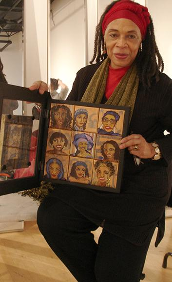 Sharon King represented her various self personae  within a box that could be opened.