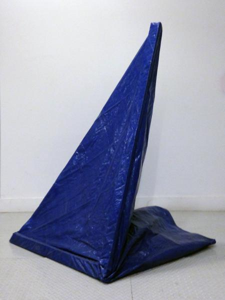"Spire | Tarp, Steel Studs, and Tape | 59"" x 38"" x 48"" 