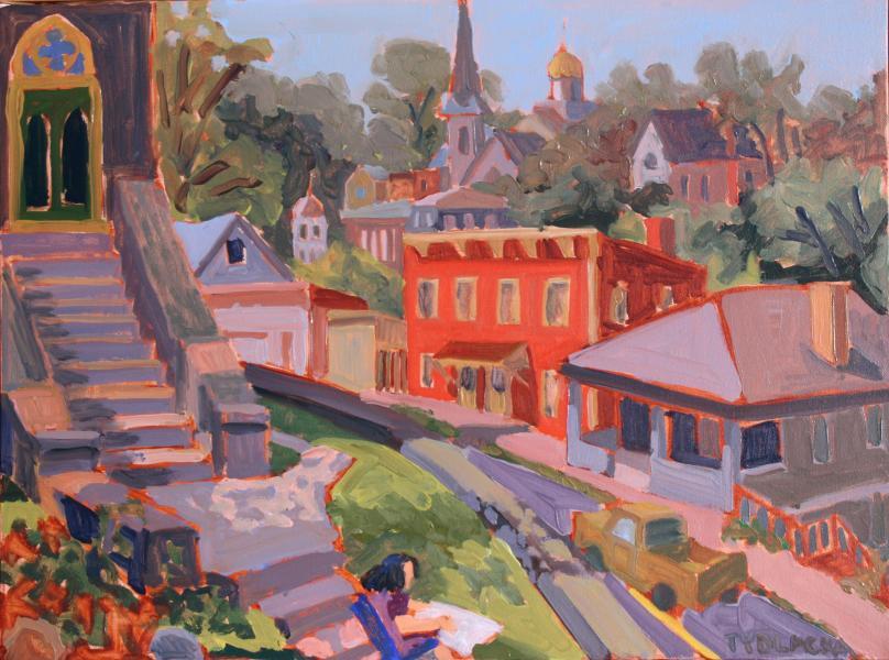 """St. Paul's Steps, oil, 18""""x24"""", 2010"""