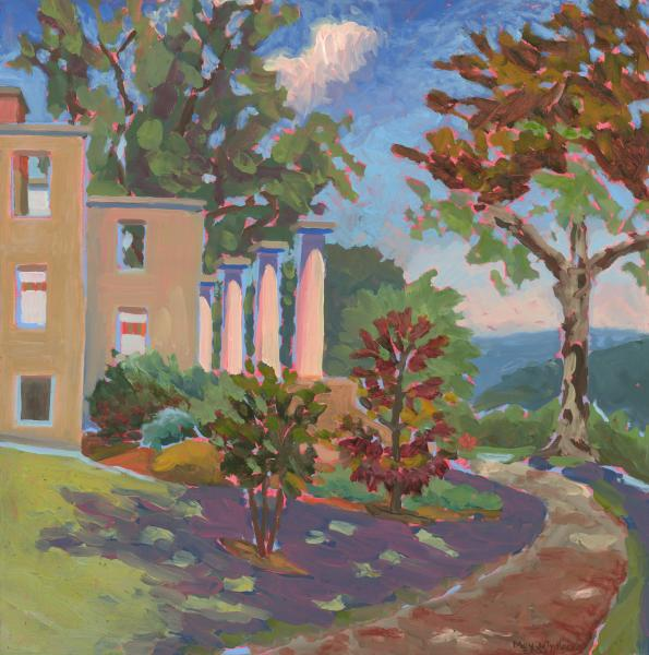 "The Patapsco Female Institute Ruins, oil, 20""x20"", 2003"