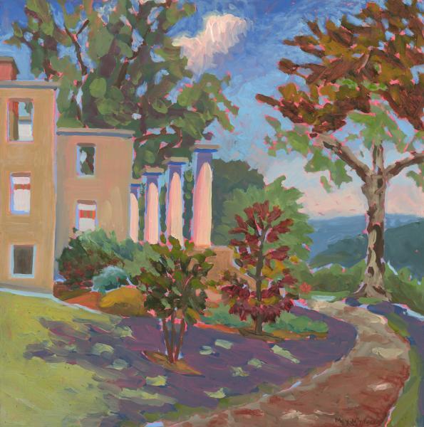 """The Patapsco Female Institute Ruins, oil, 20""""x20"""", 2003"""