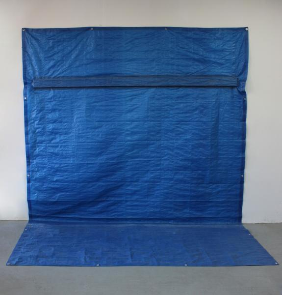 Transept | Tarp, Steel Stud, Screws, and Tape | 8' x 9' x 4' | 2014