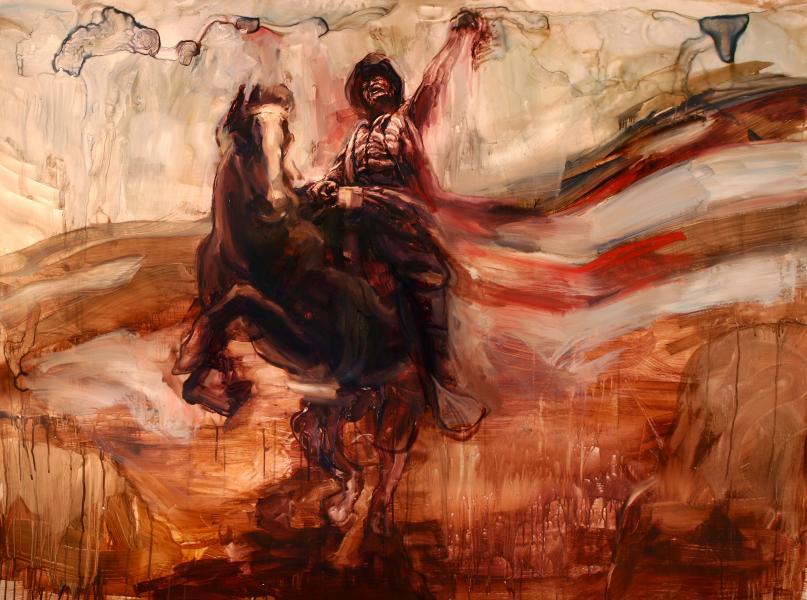 theodore roosevelt, rough rider, history painting