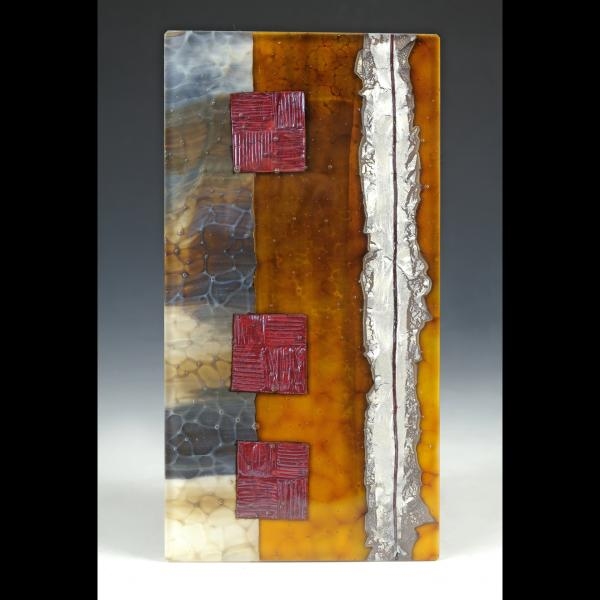 woven, kilnformed glass artwork by Ursula Marcum